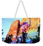 Light On Cliffs Weekender Tote Bag
