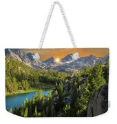 Light On Mack Lake Weekender Tote Bag