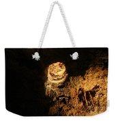 Light Peeks Through - Cave Weekender Tote Bag