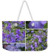 Light Purple Flowers Collage Weekender Tote Bag