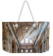 Light Rays In St Peter's, Rome Weekender Tote Bag