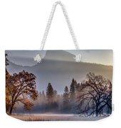 Light Rays In Yosemite Ground Fog Weekender Tote Bag