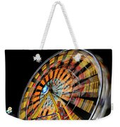 Light Streaks From The Spinning Ferris Wheel And Swing At Night  Weekender Tote Bag