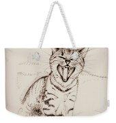 Light Sweet Cat Weekender Tote Bag