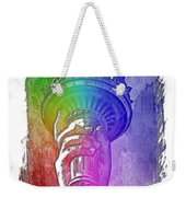 Light The Path Cool Rainbow 3 Dimensional Weekender Tote Bag