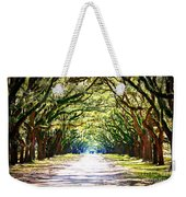 Light Through Live Oak Lane Weekender Tote Bag