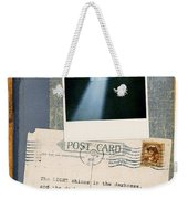 Light Through Window And Scripture Weekender Tote Bag by Jill Battaglia