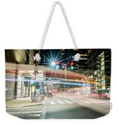 Light Trails On 17th And Market Weekender Tote Bag
