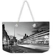 Light Trails On O'connell Street At Night - Dublin Weekender Tote Bag by Barry O Carroll