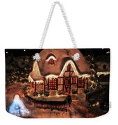 Lighted Christmas House  Weekender Tote Bag