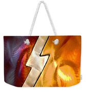 Lightening Bolt Abstract Posterized Weekender Tote Bag