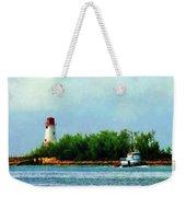 Lighthouse And Boat Nassau Bahamas Weekender Tote Bag