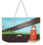 Lighthouse And Bridge Weekender Tote Bag