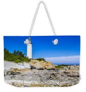 Lighthouse And Rocks Weekender Tote Bag