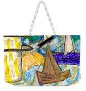 Lighthouse And Sailboats Weekender Tote Bag