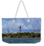 Lighthouse At Anclote Key Weekender Tote Bag