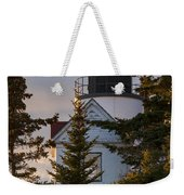 Lighthouse At Bass Harbor Weekender Tote Bag