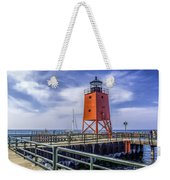 Lighthouse At Charlevoix South Pier  Weekender Tote Bag