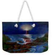 Lighthouse At Night Weekender Tote Bag
