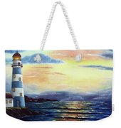Lighthouse At Sunset Weekender Tote Bag