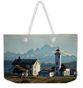 Lighthouse Before Mountain Weekender Tote Bag