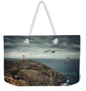 Lighthouse Cliff Weekender Tote Bag