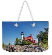 Lighthouse Eagle Harbor Lake Superior -6533 Weekender Tote Bag