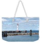 Lighthouse In Michigan Weekender Tote Bag