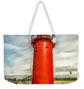 Lighthouse In South Haven Weekender Tote Bag