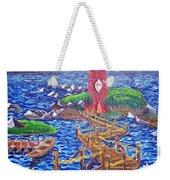 Lighthouse Island Weekender Tote Bag