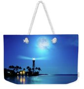 Lighthouse Moon Weekender Tote Bag by Mark Andrew Thomas