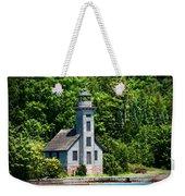 Lighthouse Munising Bay Weekender Tote Bag