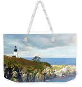 Lighthouse On A Jetty. Weekender Tote Bag