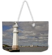 Lighthouse On A Sunny Day. Weekender Tote Bag