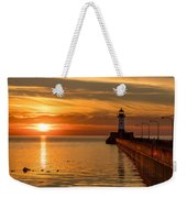 Lighthouse On Glass Weekender Tote Bag