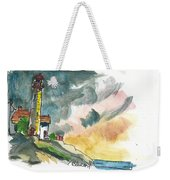 Lighthouse On The Hill Weekender Tote Bag