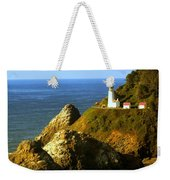 Lighthouse On The Oregon Coast Weekender Tote Bag