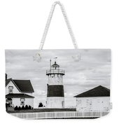 Lighthouse Point In Black And White #5 Weekender Tote Bag