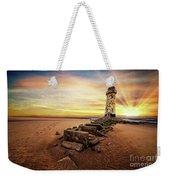 Lighthouse Sunset Wales Weekender Tote Bag