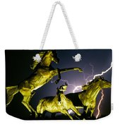 Lightning At Horse World Fine Art Print Weekender Tote Bag