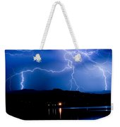 Lightning Blues Weekender Tote Bag