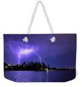 Lightning Bolt Cracks Over Lake Wendouree Weekender Tote Bag