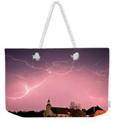 Lightning Bolts Over Spring Valley Country Church Weekender Tote Bag