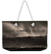 Lightning Cloud Burst Boulder County Colorado Im39 Sepia Weekender Tote Bag