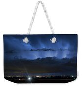 Lightning Cloud Burst Weekender Tote Bag