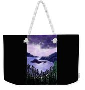 Lightning In Purple Clouds Weekender Tote Bag