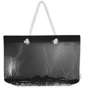 Lightning Long Exposure Weekender Tote Bag