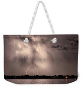 Lightning Man Weekender Tote Bag