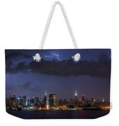 Lightning Over New York City I Weekender Tote Bag by Clarence Holmes