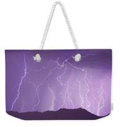 Lightning Over The Mountains Weekender Tote Bag